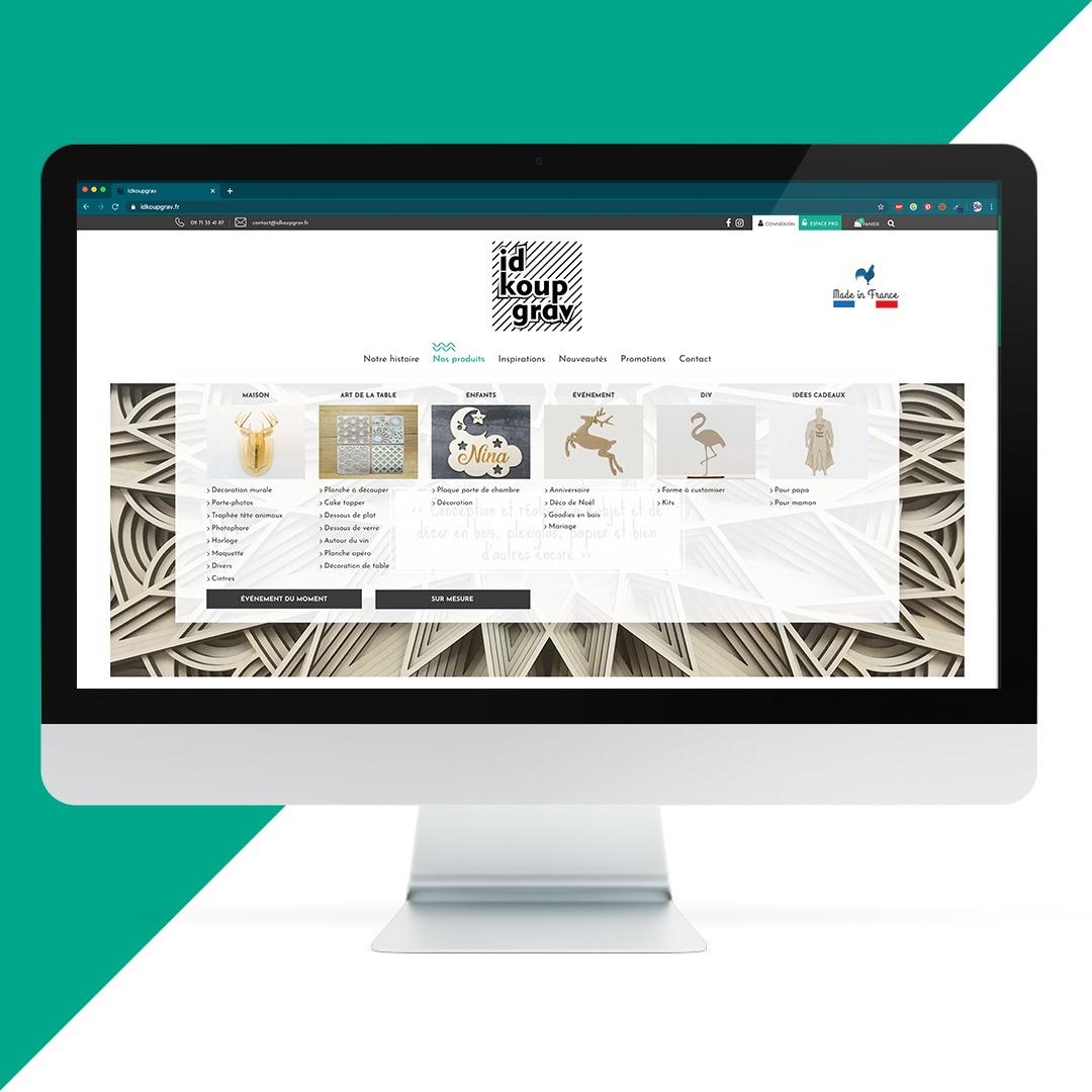 Création site internet idkoupgrav EKELA Orléans