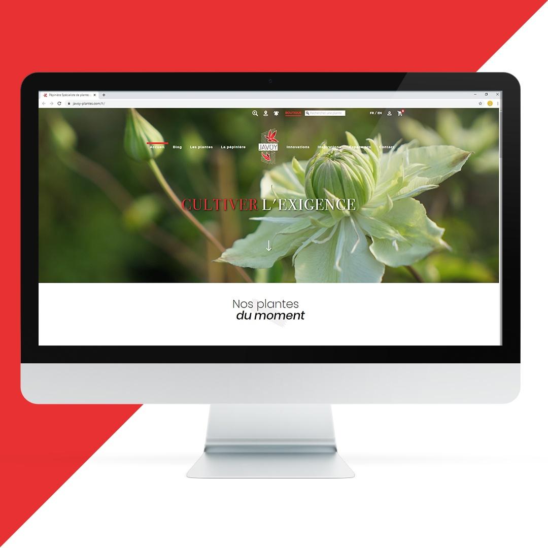 Création site internet Javoy plantes EKELA Orléans
