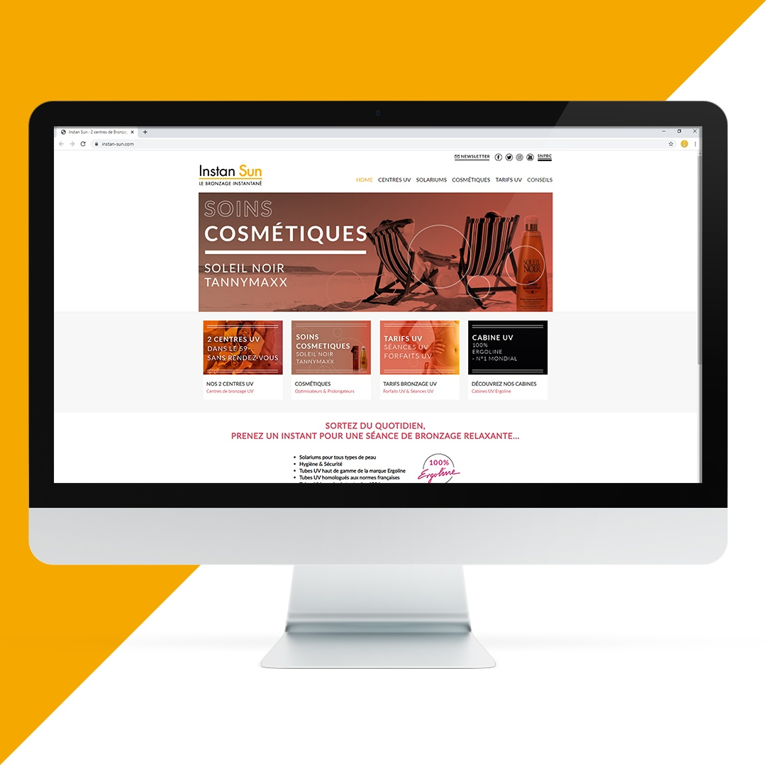 Création site internet Instan Sun EKELA Orléans