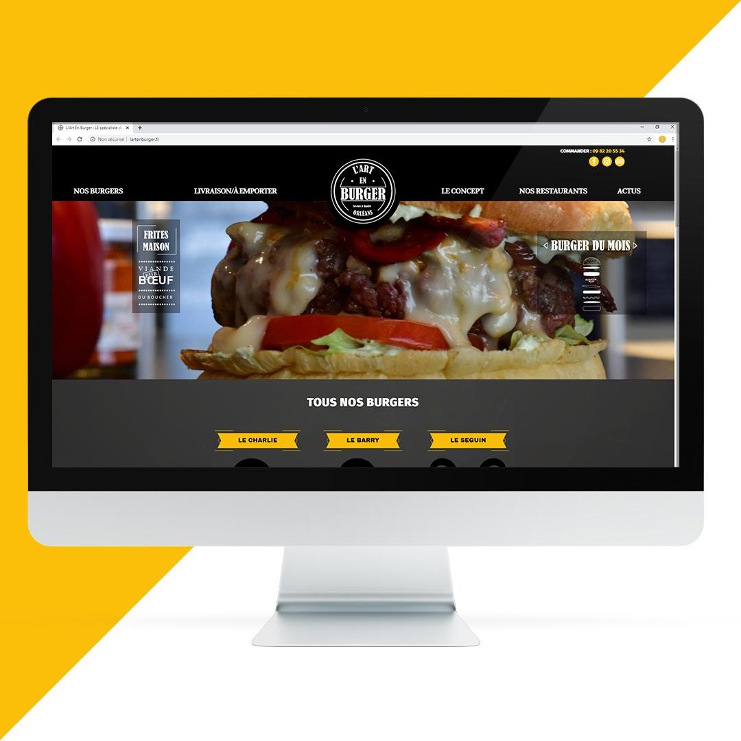Création site internet L'art en burger EKELA Orléans