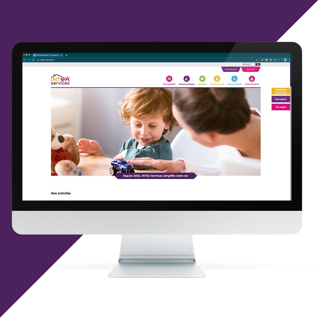 Création site internet Intex services EKELA Orléans