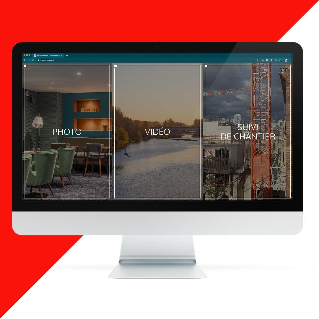 Création site internet IOA Production EKELA Orléans