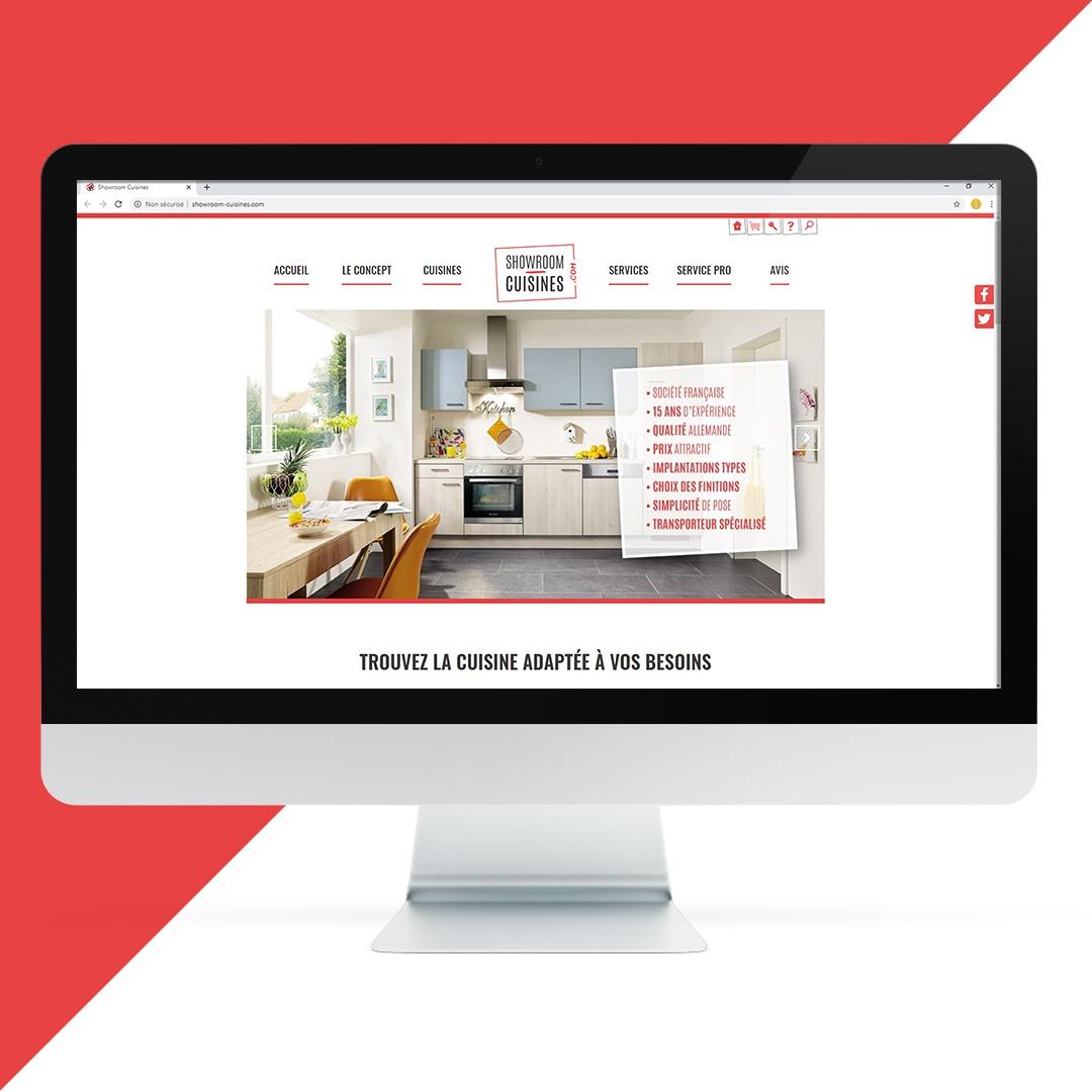 Création site internet Showroom Cuisine EKELA Orléans