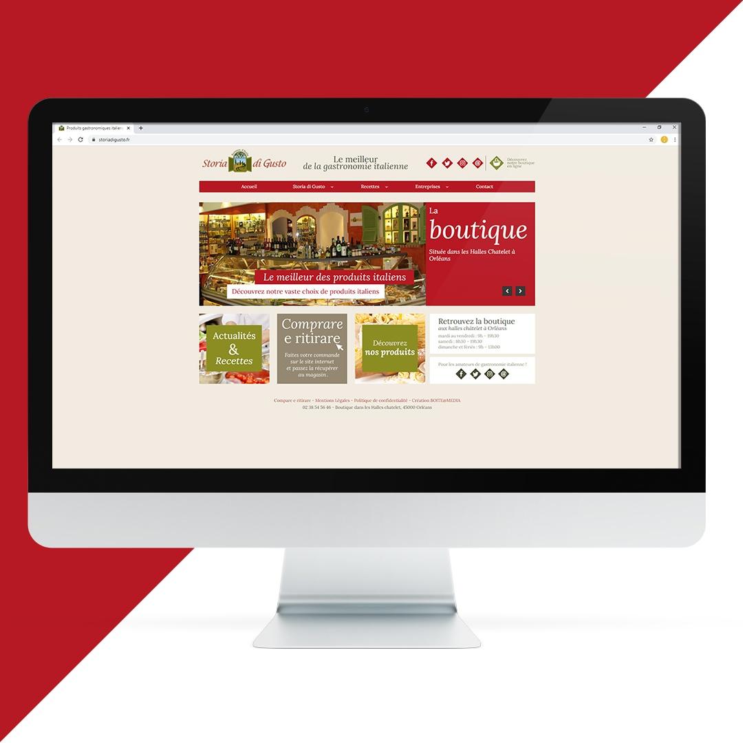 Création site internet Storia Di Gusto EKELA Orléans