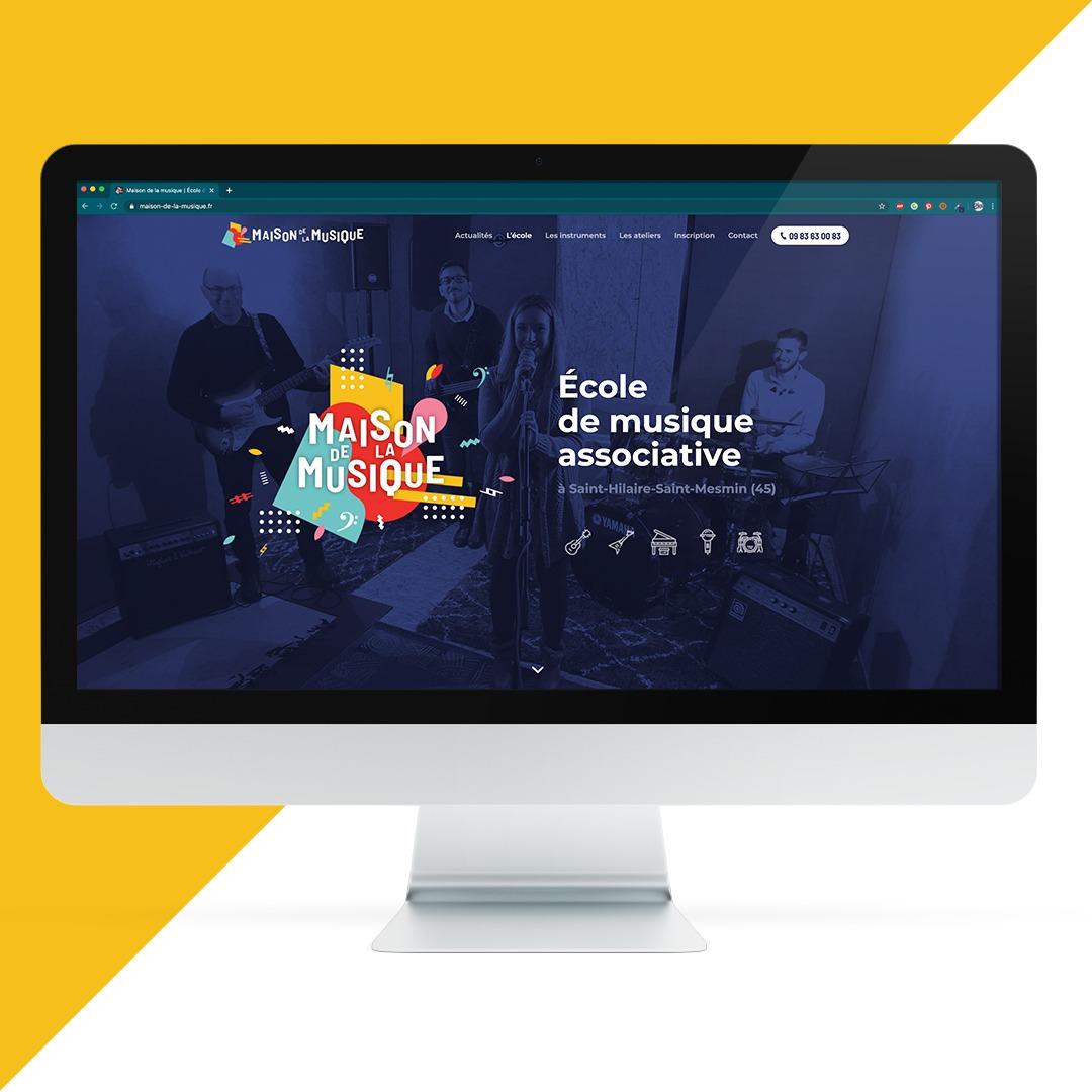 Création site internet La Maison de la Musique EKELA Orléans