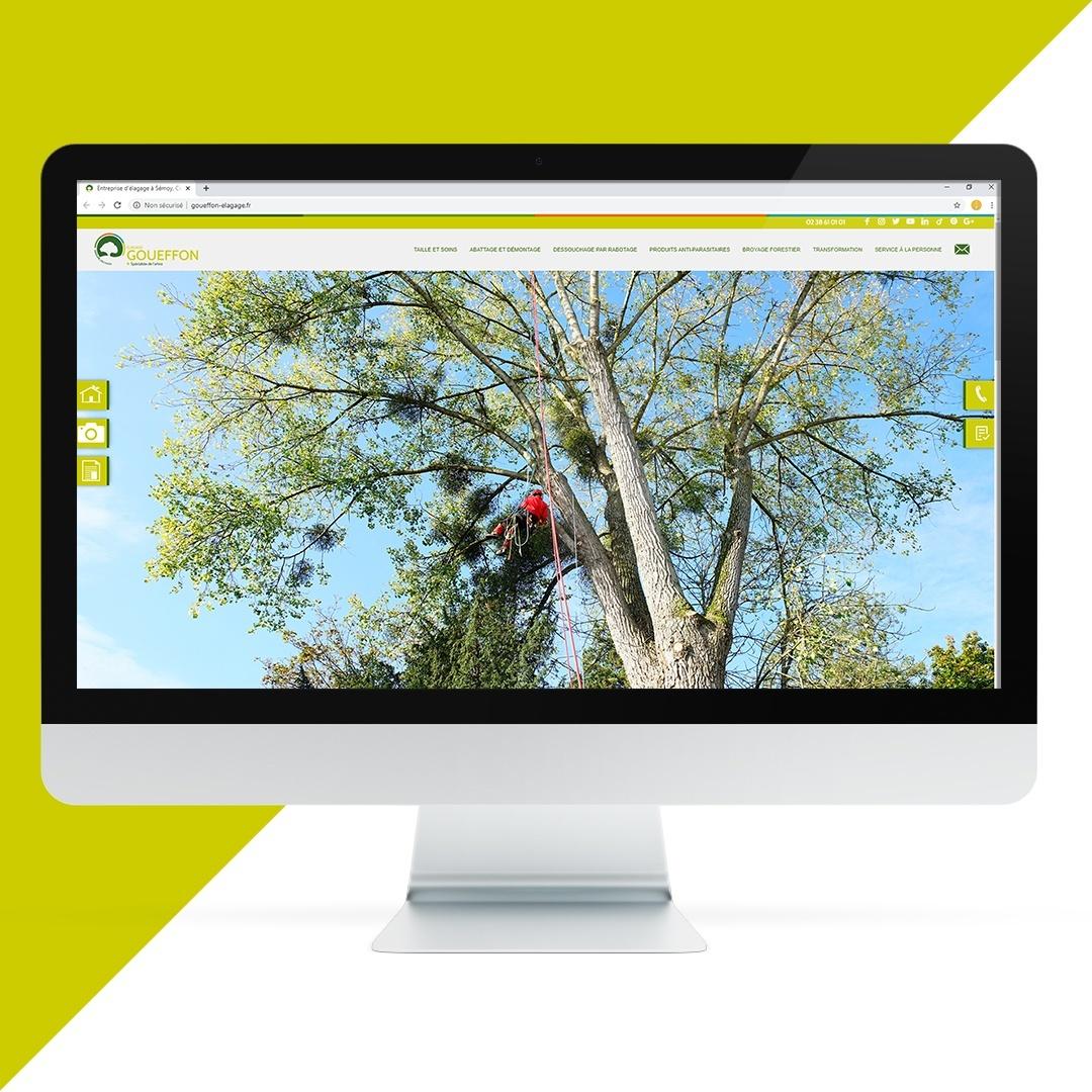 Création site internet Goueffon paysage EKELA Orléans