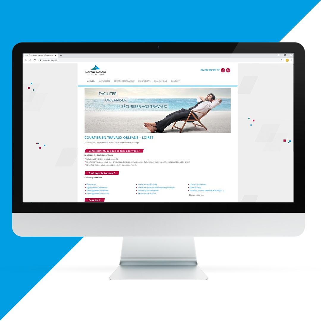 Création site internet Travaux Tranquil EKELA Orléans