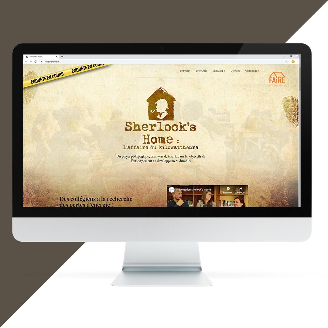 Création site internet Sherlock's Home EKELA Orléans
