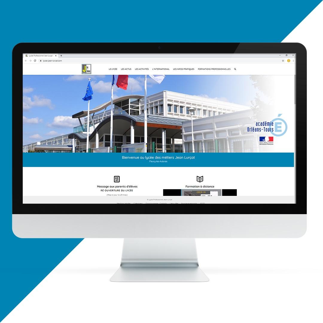 Création site internet Lycée Jean Lurçat EKELA Orléans