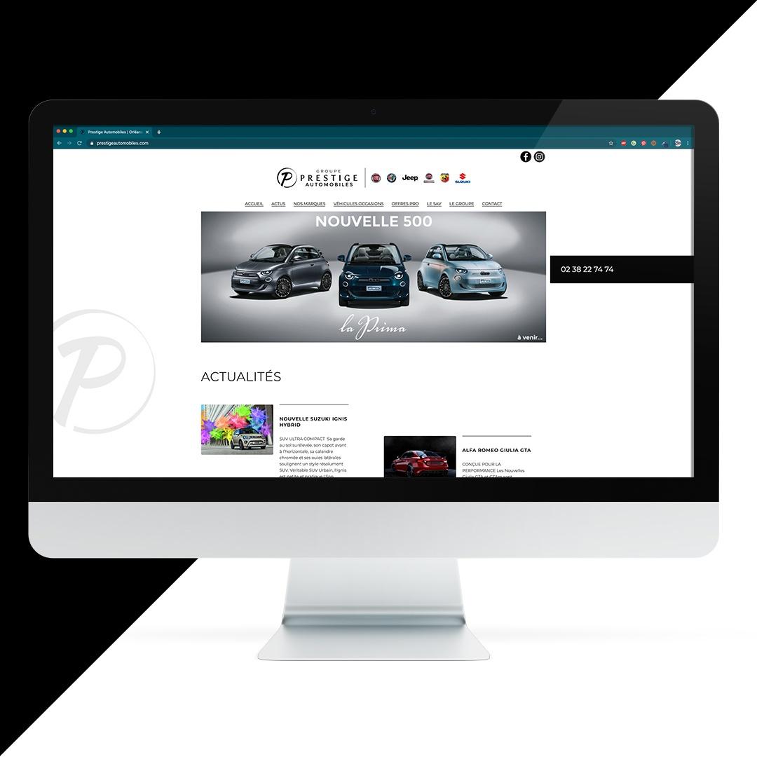 Création site internet Prestige Automobiles EKELA Orléans