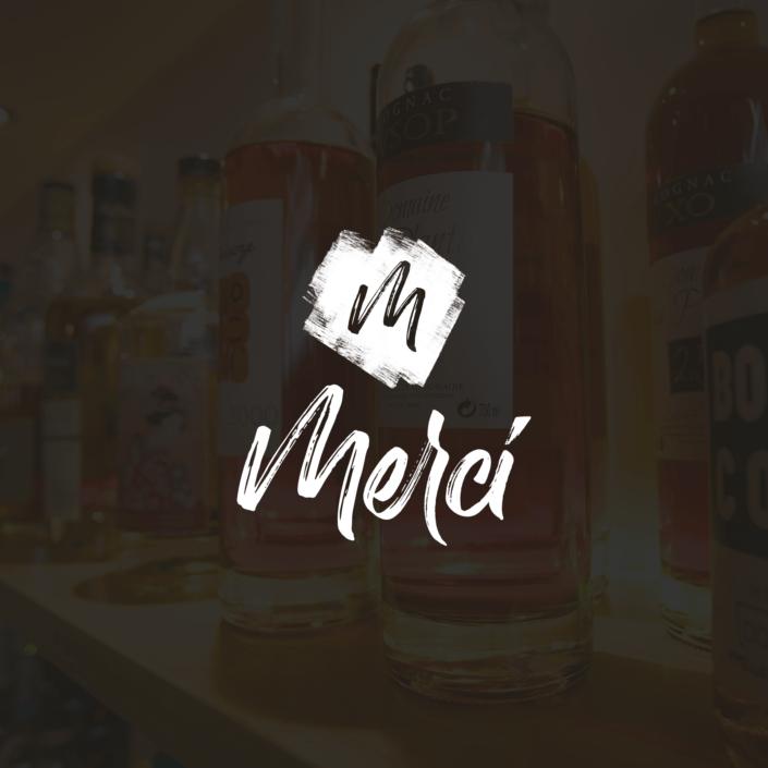 Identité de marque Merci Bar, réalisation EKELA Marketing & Digital