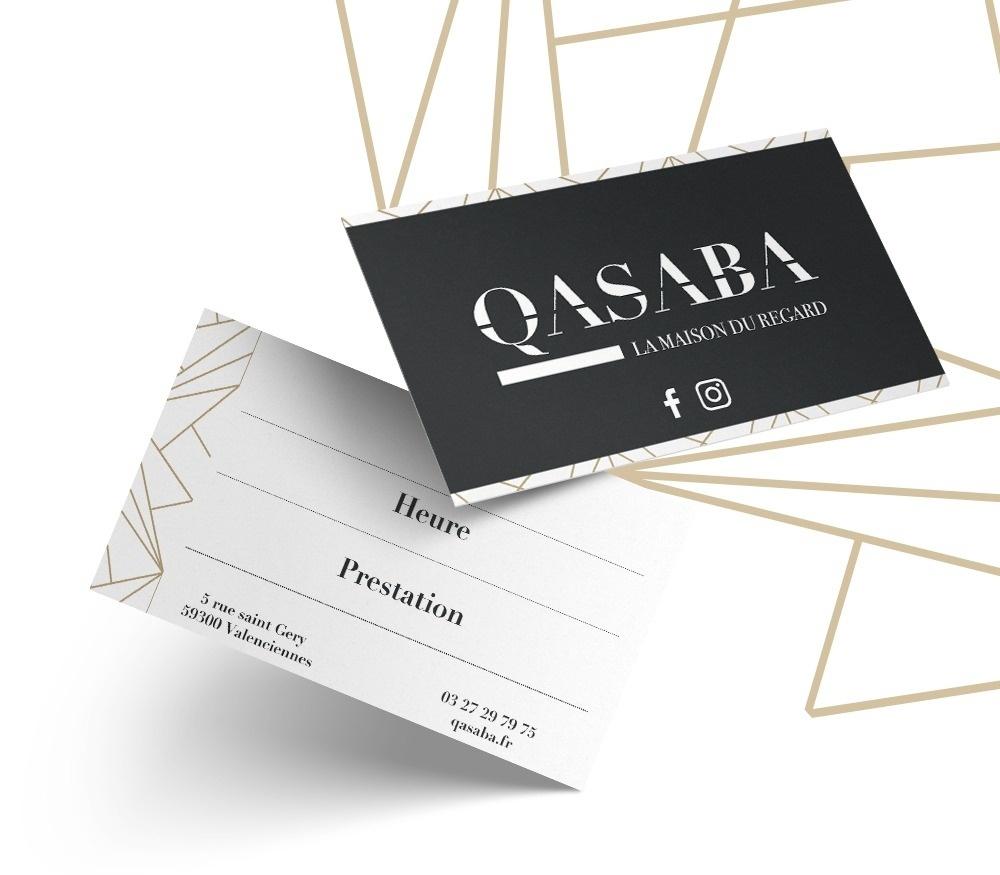 Création cartes de visite pour QASABA agence EKELA à Orléans