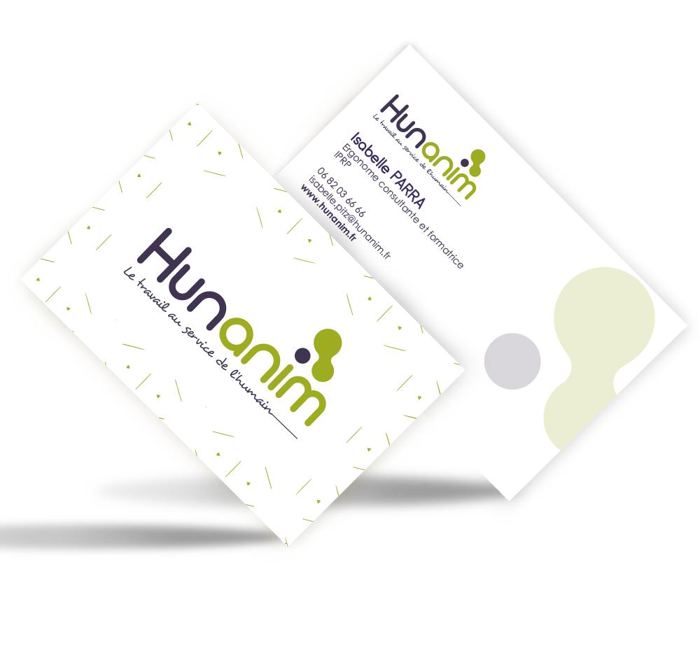 carte de visite Hunanim créée par EKELA Marketing & Digital