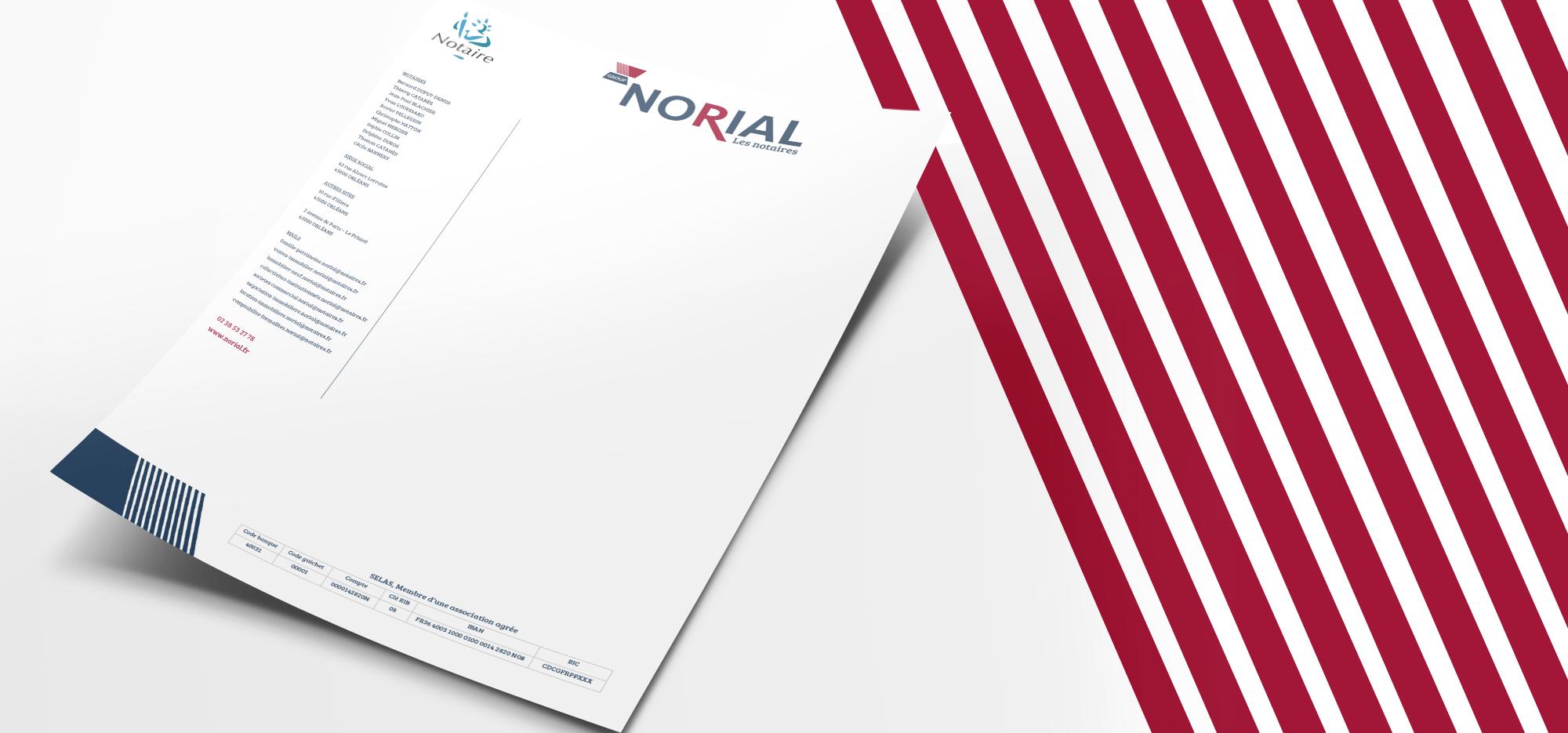 Papier à en-tête réalisé par EKELA Marketing & Digital
