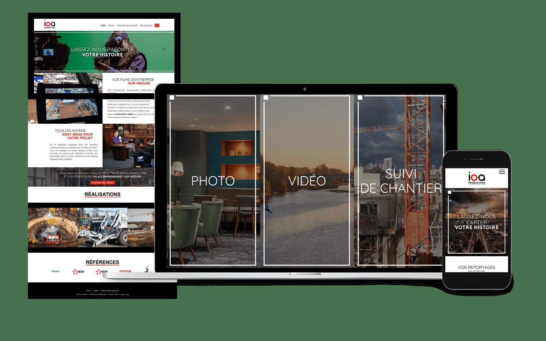 Création site internet mobile first orléans par EKELA
