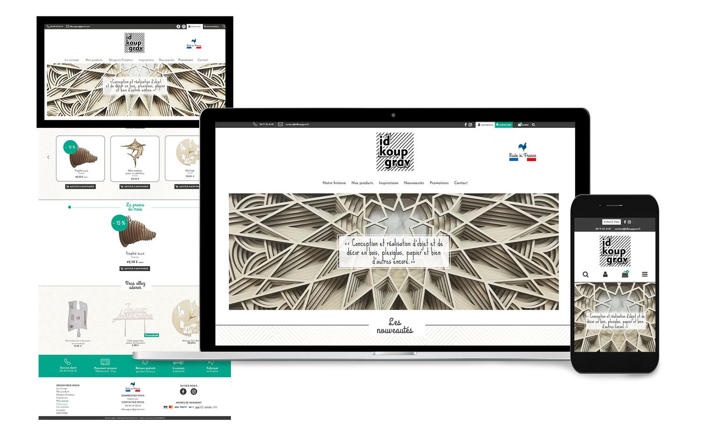 Site interne e-commerce IDKOUPGRAV créé par l'agence EKELA
