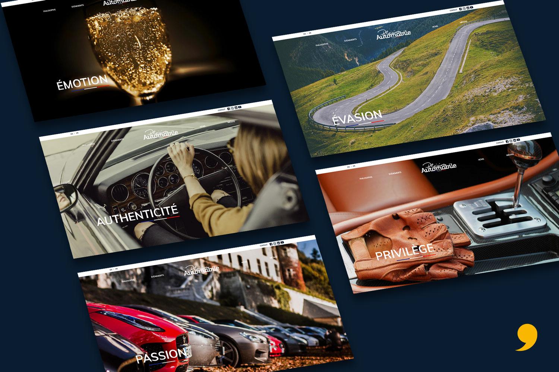 création site internet Plaisirs Automobile par EKELA