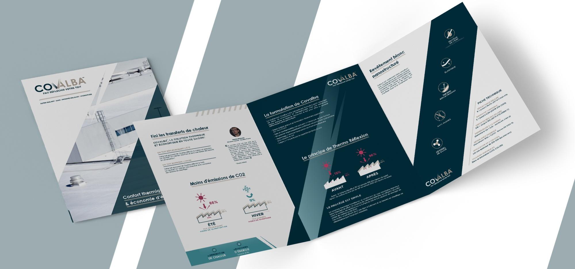 Création plaquette commerciale COVALBA par l'agence EKELA
