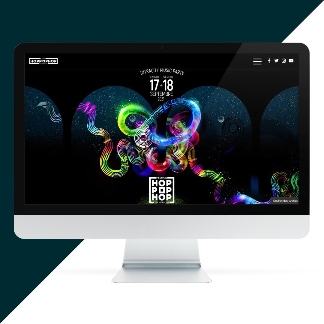 création site internet festival Hop Pop Hop - EKELA