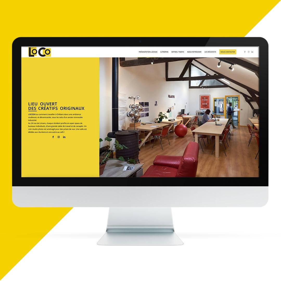 création site vitrine orléans EKELA pour LOCO