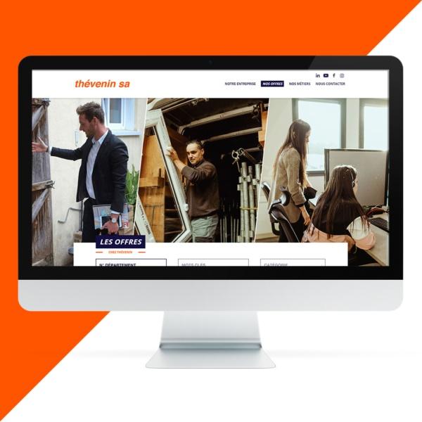 Création site internet Thévenin Recrute